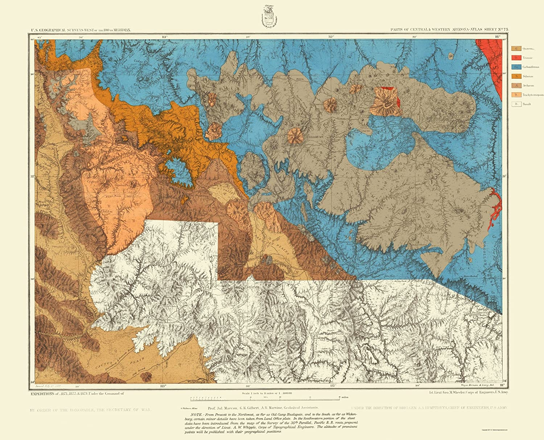 Topographical Map Of Arizona.Amazon Com Topographical Map Arizona West Central Arizona