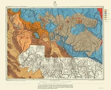 Geographical Map Of Arizona.Amazon Com Topographical Map Arizona West Central Arizona