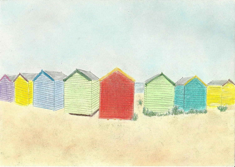 Diseño de casetas de playa con colores brillantes Pastel tizas para tacos de billar de dibujo + soporte: Amazon.es: Hogar