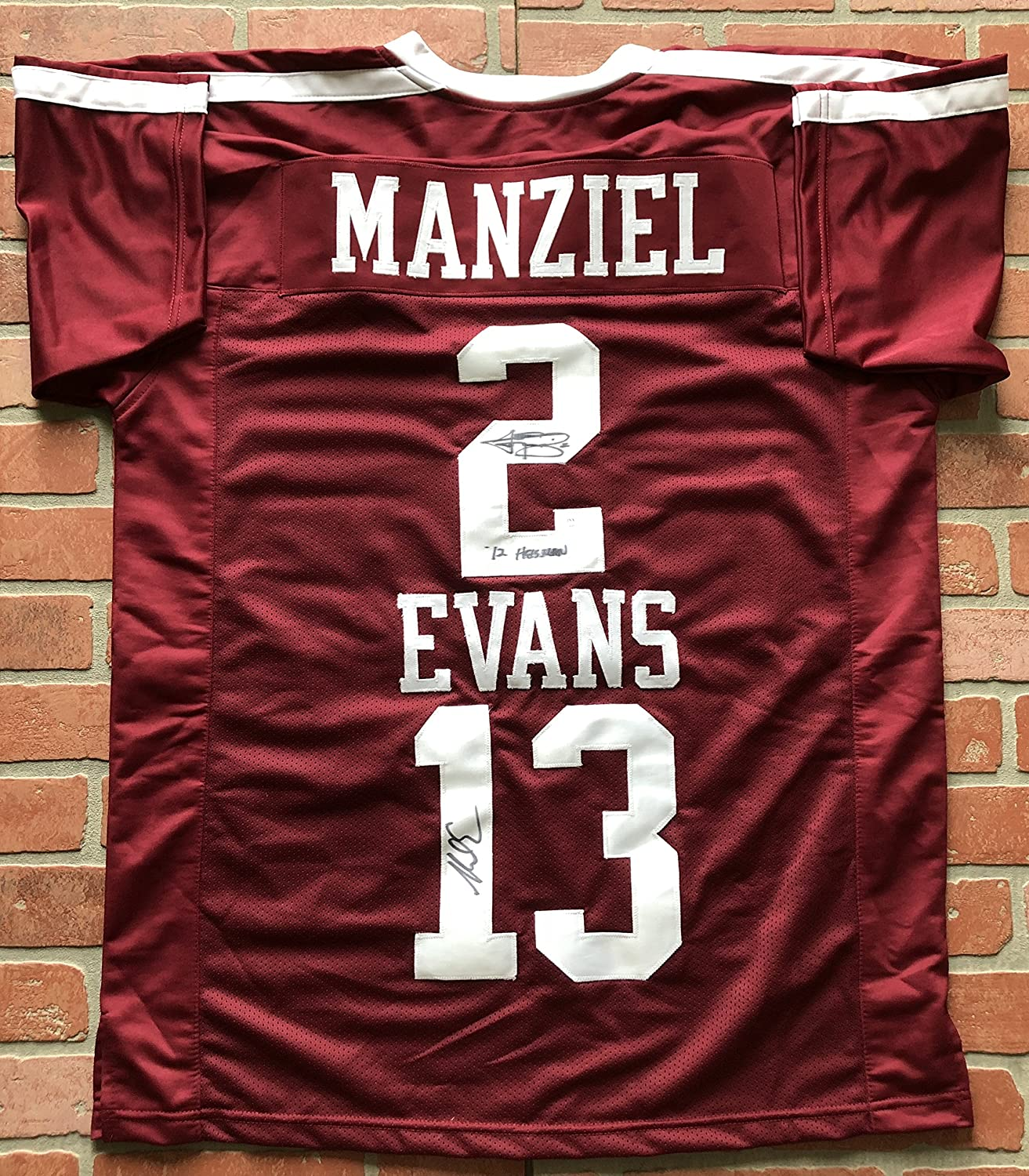 best loved 3ec30 fe7de Johnny Manziel and Mike Evans autographed signed jersey NCAA ...