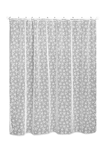 Amazon.com: Heritage Lace Starfish Shower Curtain, 72 by 72-Inch ...