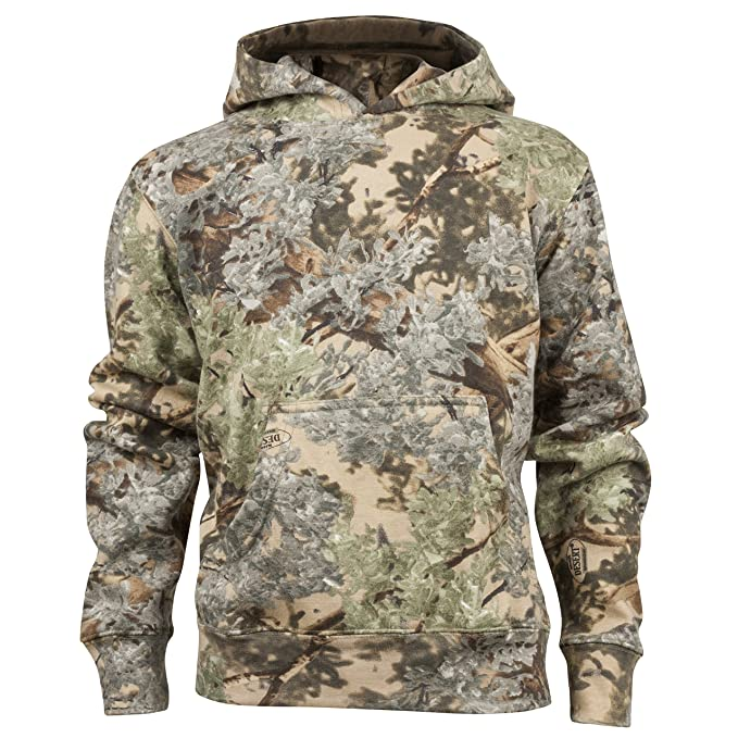 45ba32e5e Amazon.com : King's Camo Kids Camo Cotton Hunting Hoodie : Clothing