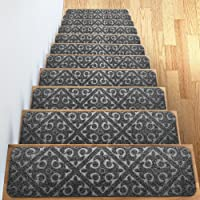 Elogio Carpet Stair Treads Set Of 13 Non Slip/Skid Rubber Runner Mats Or Rug
