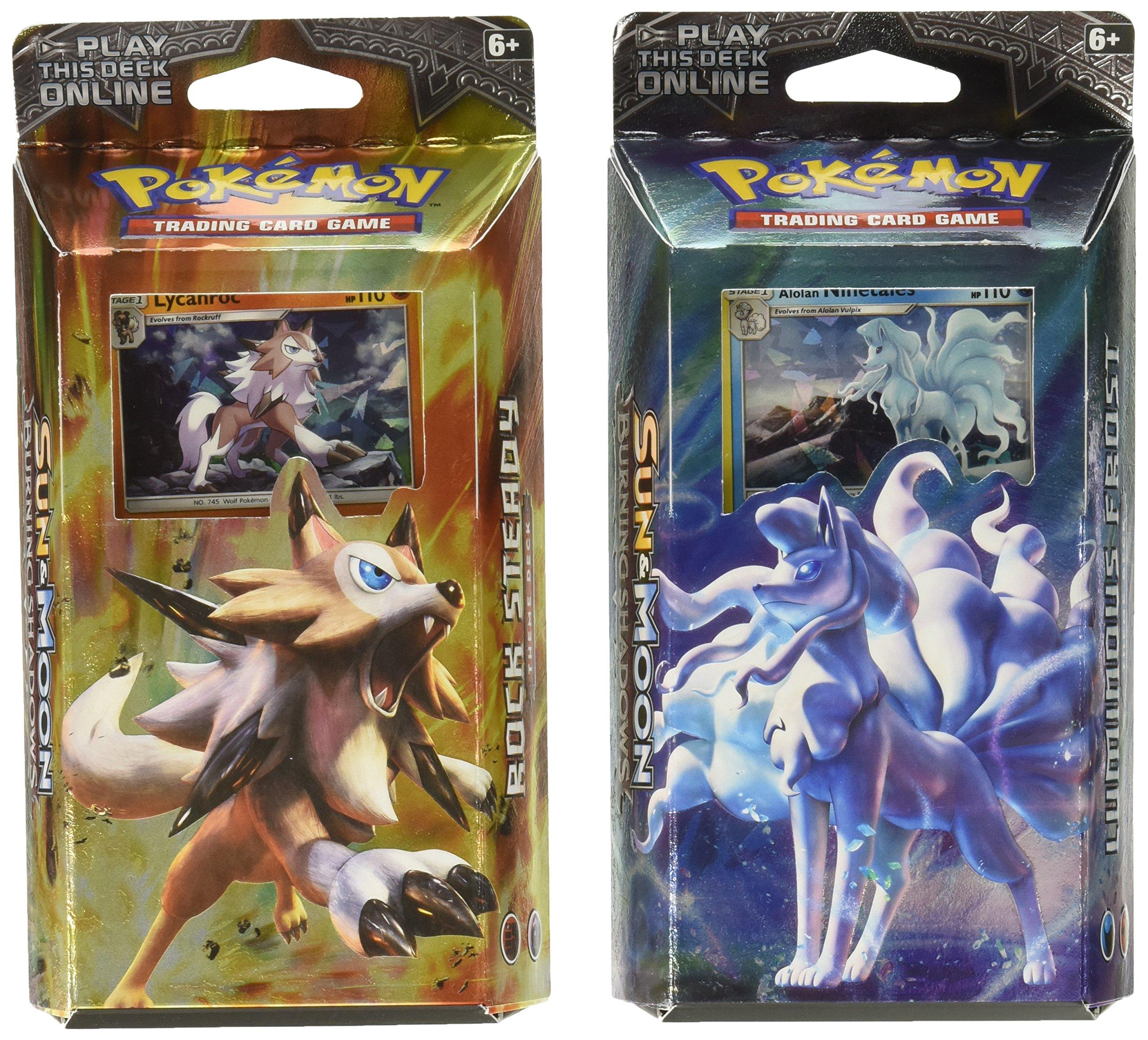 Pokemon Both TCG Sun & Moon Burning Shadows Theme Decks - Ninetales & Lycanroc