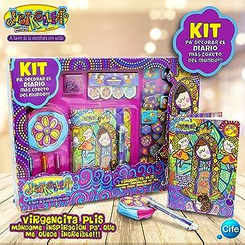 Virgencita - Distroller Kit Pa´Decorar El Diario Más Coqueto Del Mundo, Color Multicolor (Cife 20)