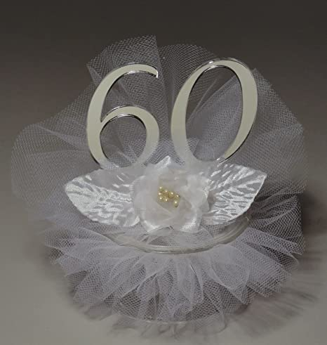Amazon.com: 60th Wedding Anniversary Cake Topper: Kitchen & Dining