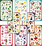 Koobar Year-round Holiday Stickers Variety Pack: Fun Assortment of Designs for a Whole Year (400+ stickers)
