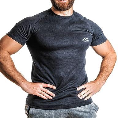 NATURAL ATHLET Thermo T-Shirt Herren Fitness kurzarm mit rundhals tailliert  Slim Fit für Sport