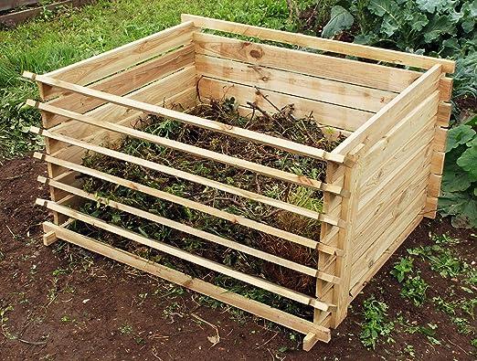 Compostador Chamberlain de Madera - 718 litros: Amazon.es: Jardín