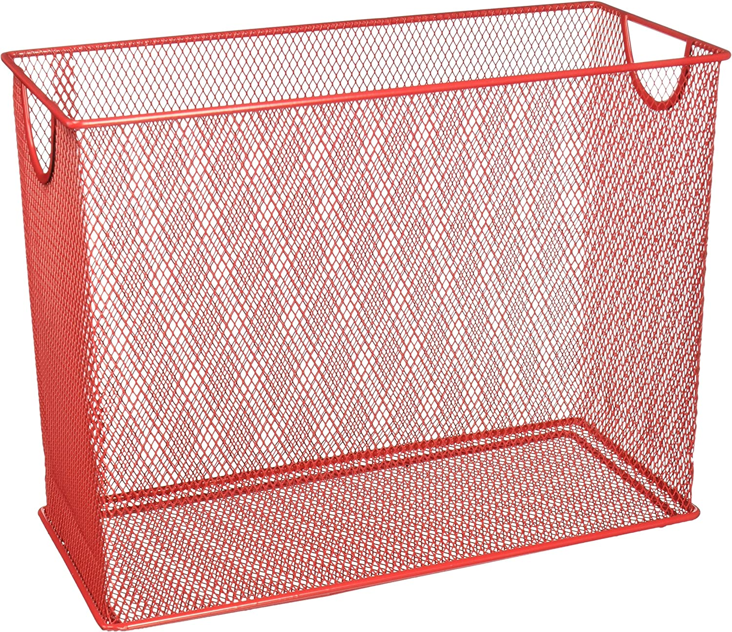 Honey-Can-Do OFC-04859 Mesh Table Top File, 5.5 x 12.5 x 9.87, Red