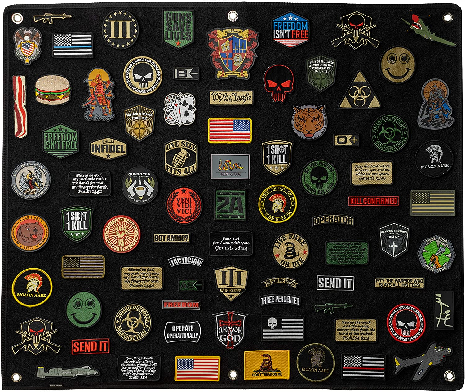 """BASTION Morale Patches Panel, Hook & Loop Patch Panel (Large 30""""x36"""") 