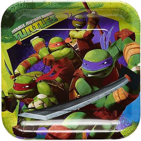 American Greetings Teenage Mutant Ninja Turtles (TMNT) Party Supplies, Paper Dinner Plates (40-Count)
