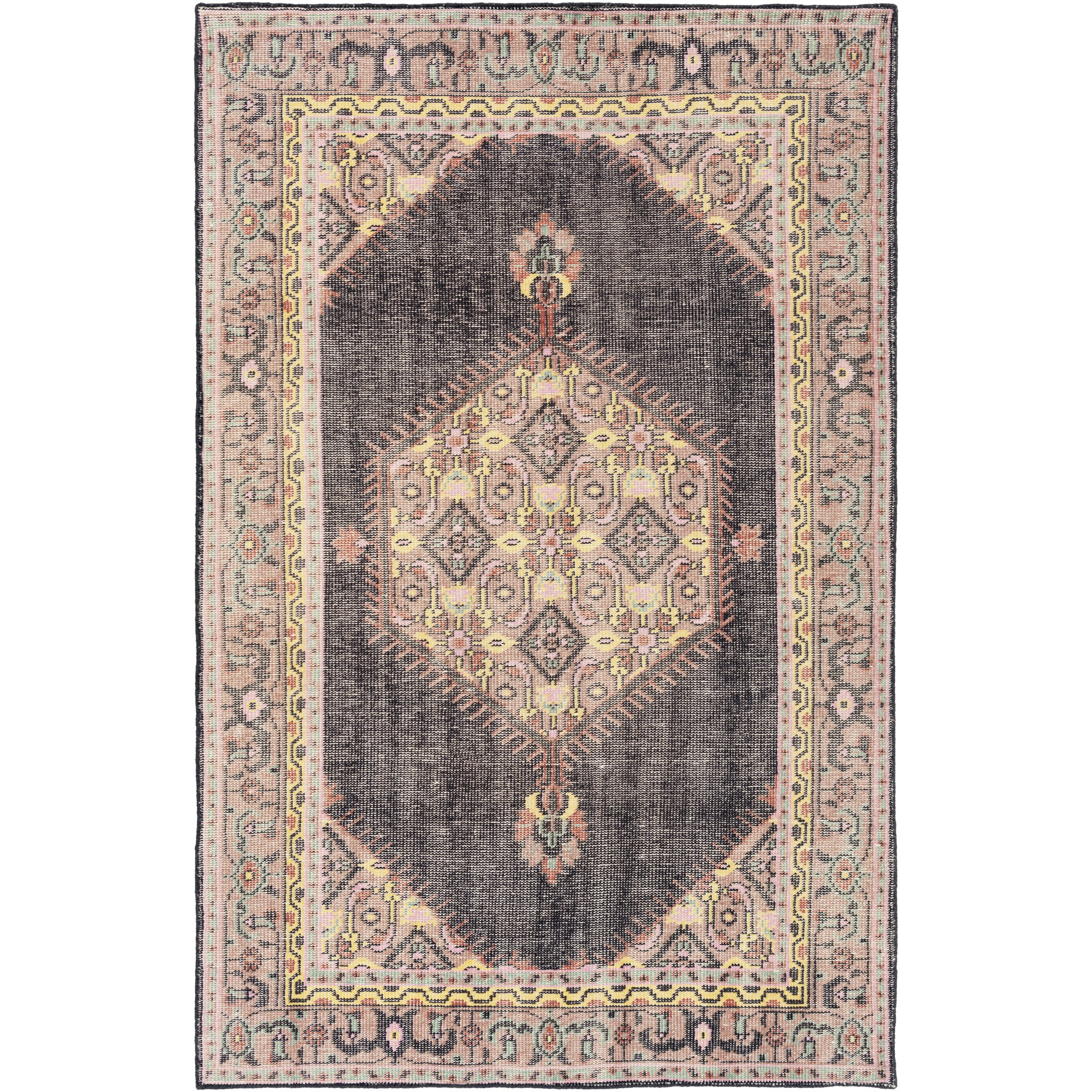 Surya Zahra ZHA-4004 Hand Knotted Classic Accent Rug, 3.6 by 5.6-Feet