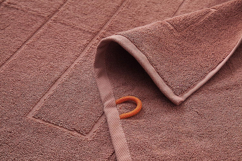 100//% Coton Hometex Premium Textiles Tapis de Bain Tapis de Douche 50 x 70 cm ECOTEX 100 Citron