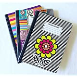 Set of 3 Wide Ruled Composition Notebooks - Groovy Cute
