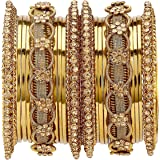 Mansiyaorange Traditional Antique Work Golden Color Golden Bangles for Women Range