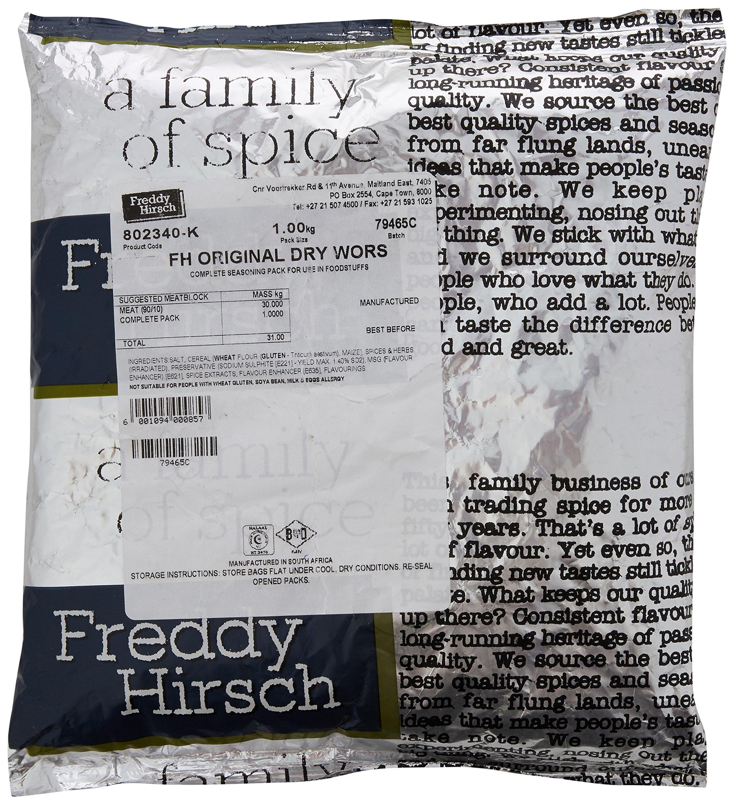 Freddy Hirsch Original Dry Wors Spice 1 kg