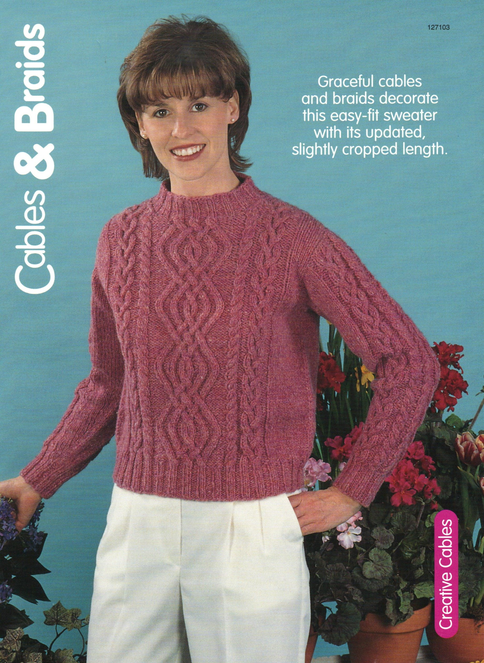 bc3d843be00f Cables and Braids - Ladies  Pullover Sweater - One Knitting Pattern for One  Sweater Pamphlet – 1999