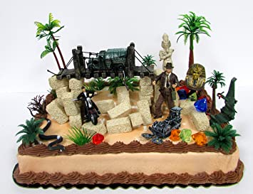 Pleasing Buy Cake Toppers Indiana Jones 30 Piece Deluxe Desert Scene Funny Birthday Cards Online Inifodamsfinfo