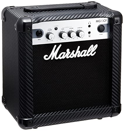 Marshall MG10Cf – Amplificador para guitarra eléctrica – Acabado carbono/plata – Combinación de transistores