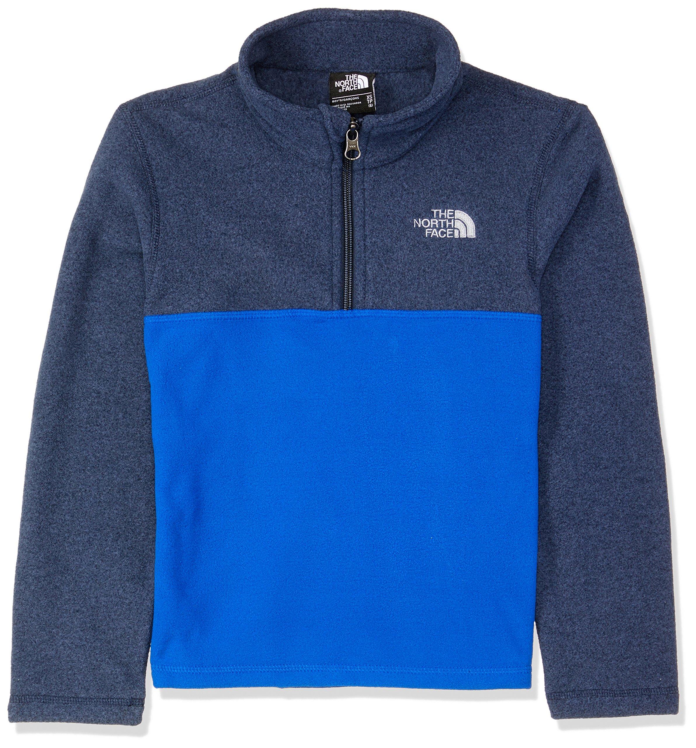 The North Face Boy's Glacier 1/4 Zip Fleece Pullover - Bright Cobalt Blue - L (Past Season)