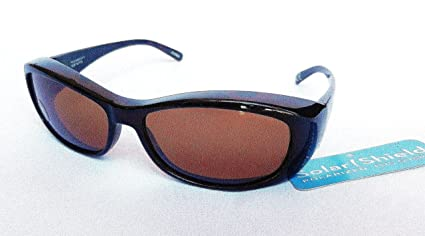 d416ecdf6b Image Unavailable. Image not available for. Color  SOLAR SHIELD  quot Fit  Over Your RX Glasses quot  Polarized Sunglasses ...