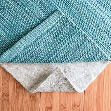 RUGPADUSA, Basics 100% Felt Rug Pad, 7' x 10', 1/3'' Thick, Made in the USA, Safe for all Floors and Finishes