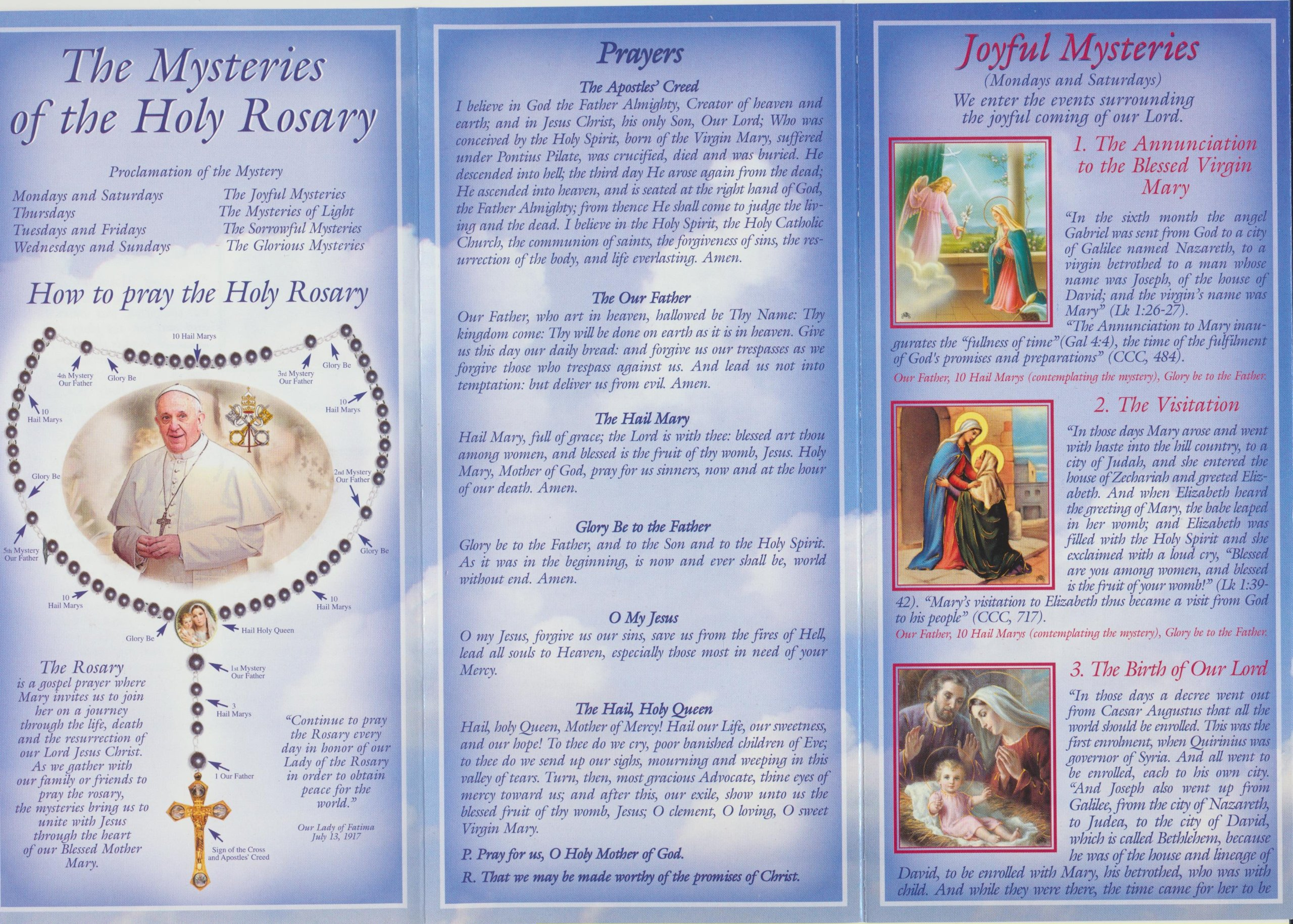 Amazon Com Pope Francis How To Pray The Rosary Pamphlet With Holy