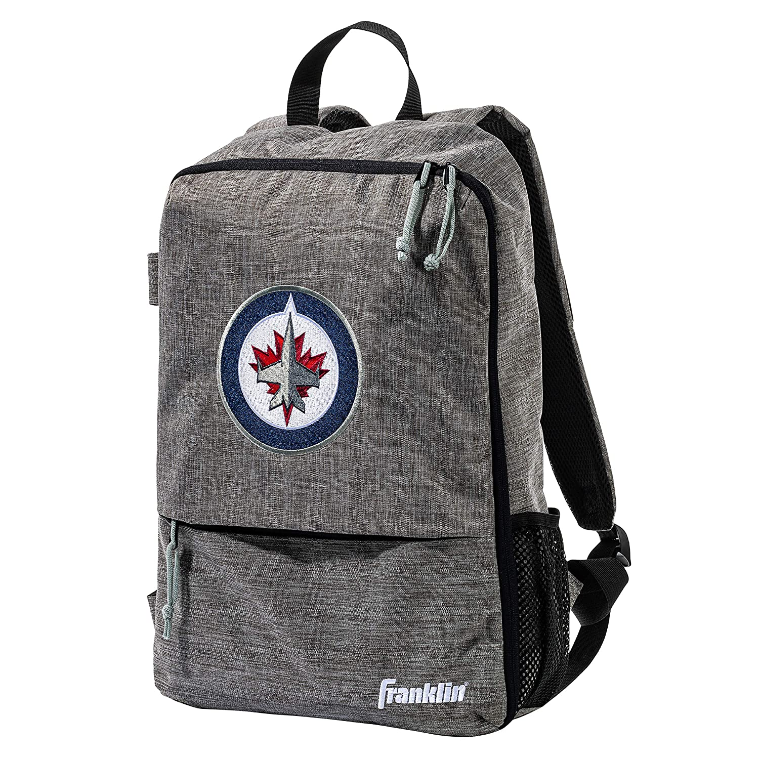 Official NHL Hockey Equipment Bags Heather Gray Hockey Backpack Franklin Sports Team Licensed Street Pack Backpack 18 x 12 x 4