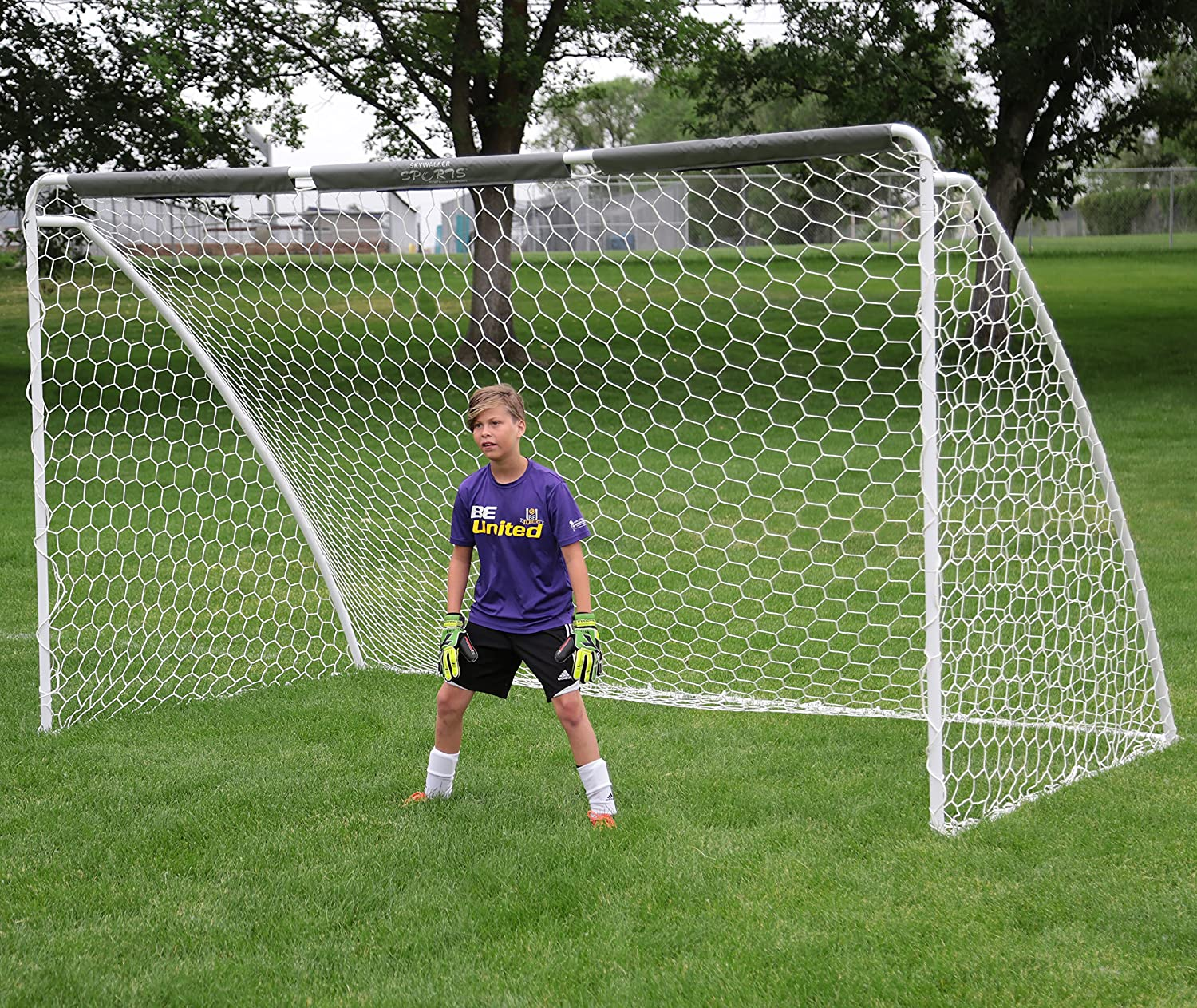 amazon com skywalker sports soccer goal with practice banners