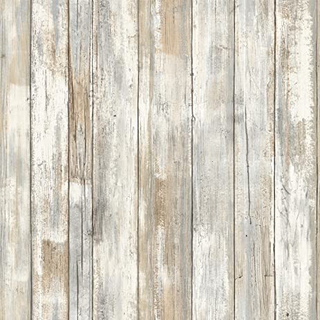 Charming RoomMates RMK9050WP 28.18 Square Feet Distressed Wood Peel And Stick Wallpaper  Décor