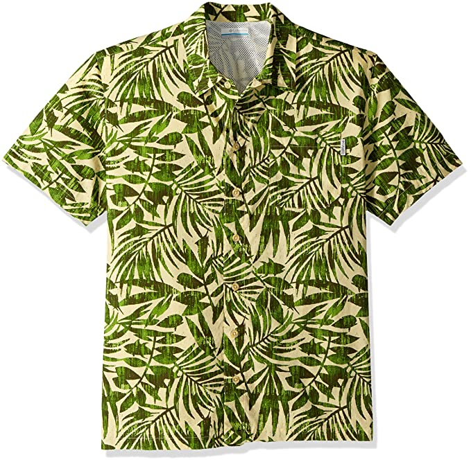 9aee9eb1 Columbia Men's Trollers Best Short Sleeve Shirt, Cane Ikat Palm Print, Small