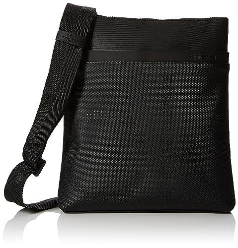 4a94ffa308 Calvin Klein Jeans Ck Point Flat Crossover - Borse a spalla Uomo, Nero  (Black