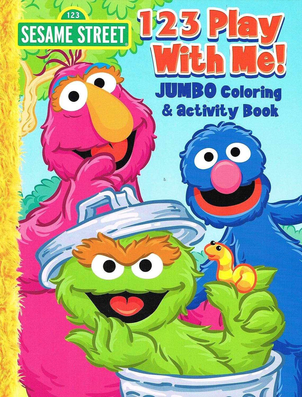 Amazon.com: Sesame Street Coloring & Activity Book (Set of 4 Books ...