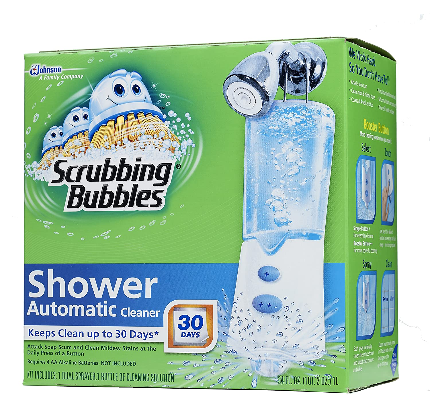 Amazon.com: Scrubbing Bubbles Automatic Shower Cleaner, Starter Kit ...