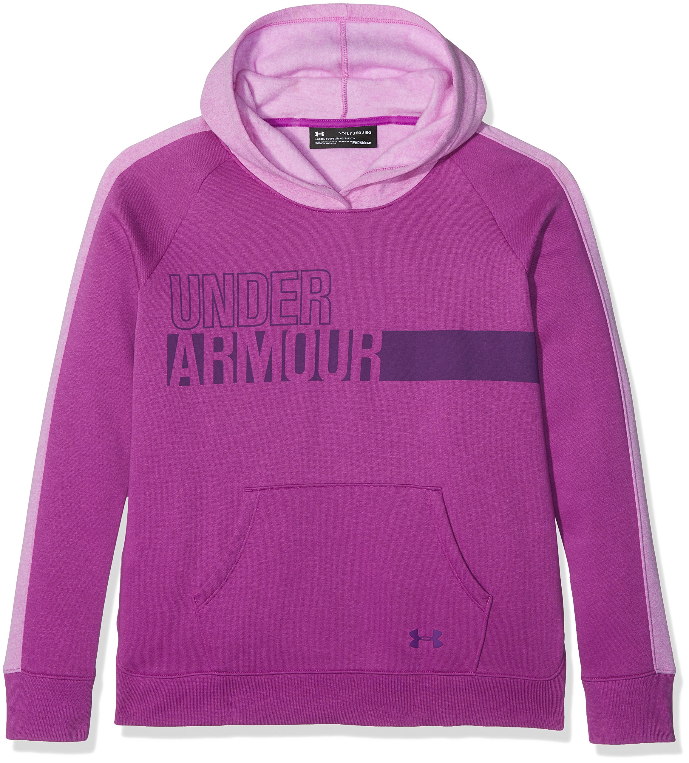 Under Armour Girls' Favorite Fleece Hoodie,Purple Rave (959)/Indulge, Youth X-Small