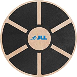 JLL Wooden Balance Board, ANTI SLIP SURFACE, Exercise Fitness Workout Rehabilitation Training Exercise Wobble Board
