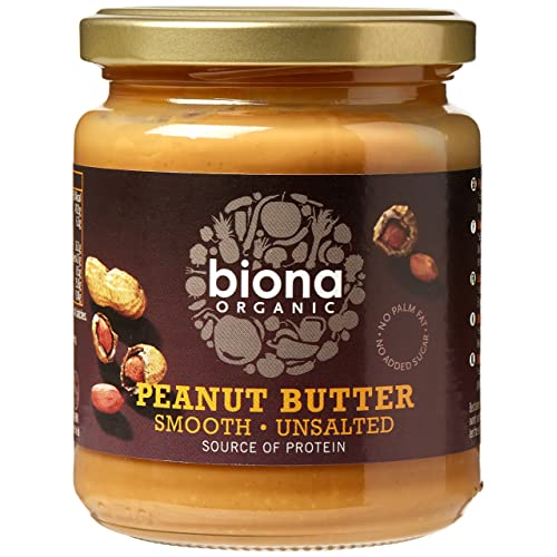 Biona Organic Peanut Butter Smooth 250g (Pack of 6)