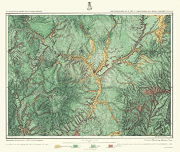 Topographical Map - New Mexico Land Classification - US Army 1876 - 23 x 27.17 -