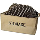 "OrganizerLogic Storage Bins - 22"" x 15"" x 10"" Toy Box - Extra Large Storage Basket for Organizing Laundry, Clothes, Blankets, Pillows, Kitchen, Baby, Kids Room, Toys - Jute Storage Baskets"