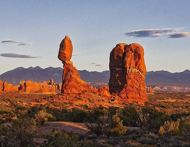 amazon com balanced rock at sunset arches national park utah