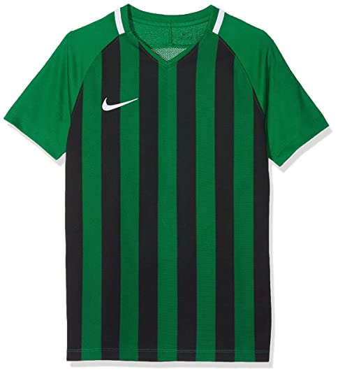 97154bff3e4 Nike Kids' Striped Division III Short Sleeve Top, Pine Green/Black (White),  Small: Amazon.co.uk: Sports & Outdoors