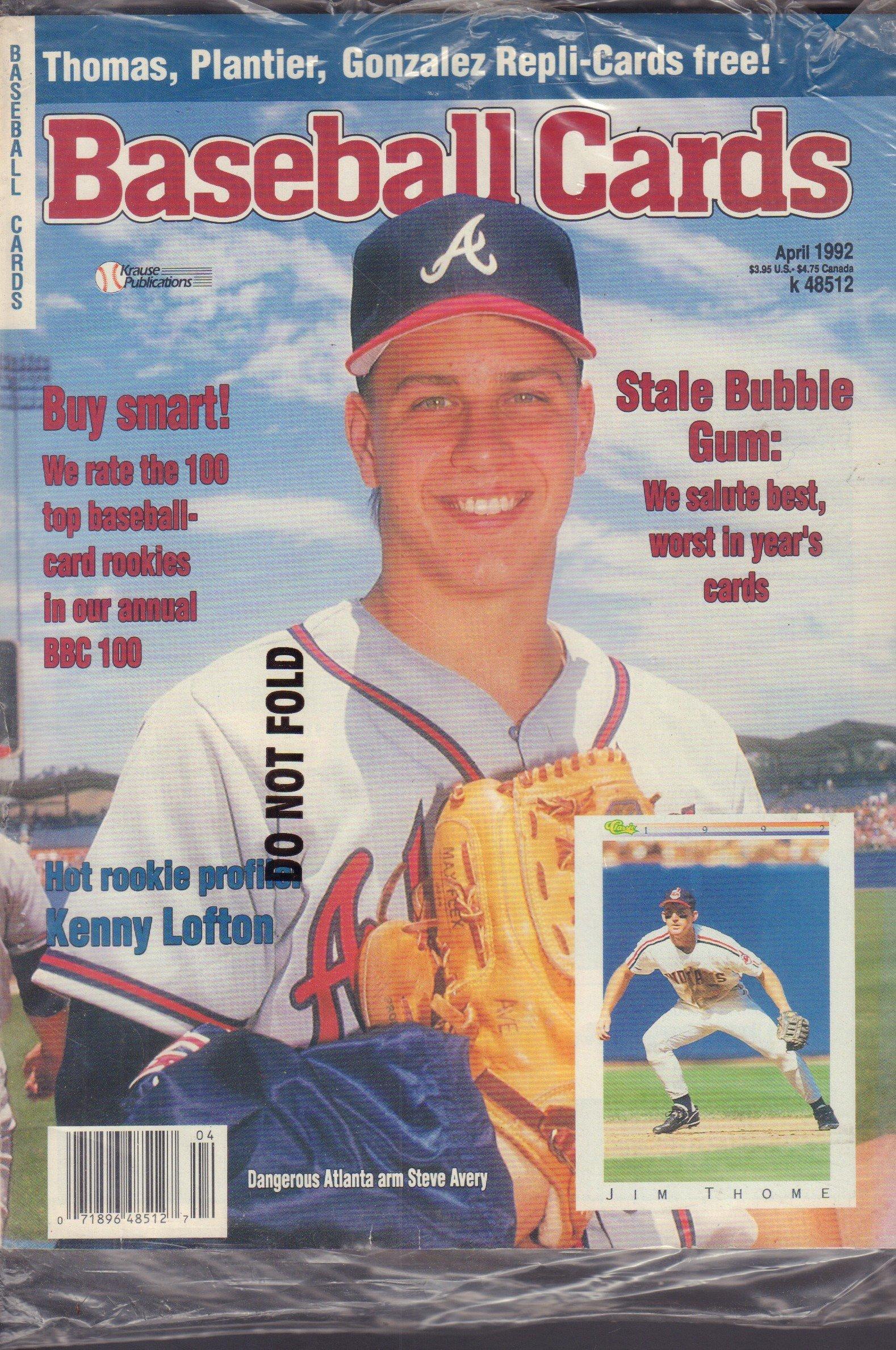 Baseball Cards April 1992 Jim Thome Steve Avery W Cards