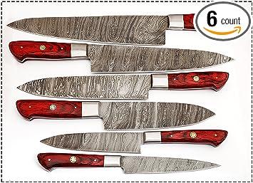 Amazon.com: De 06 PC Custom Juego de cuchillos de cocina ...