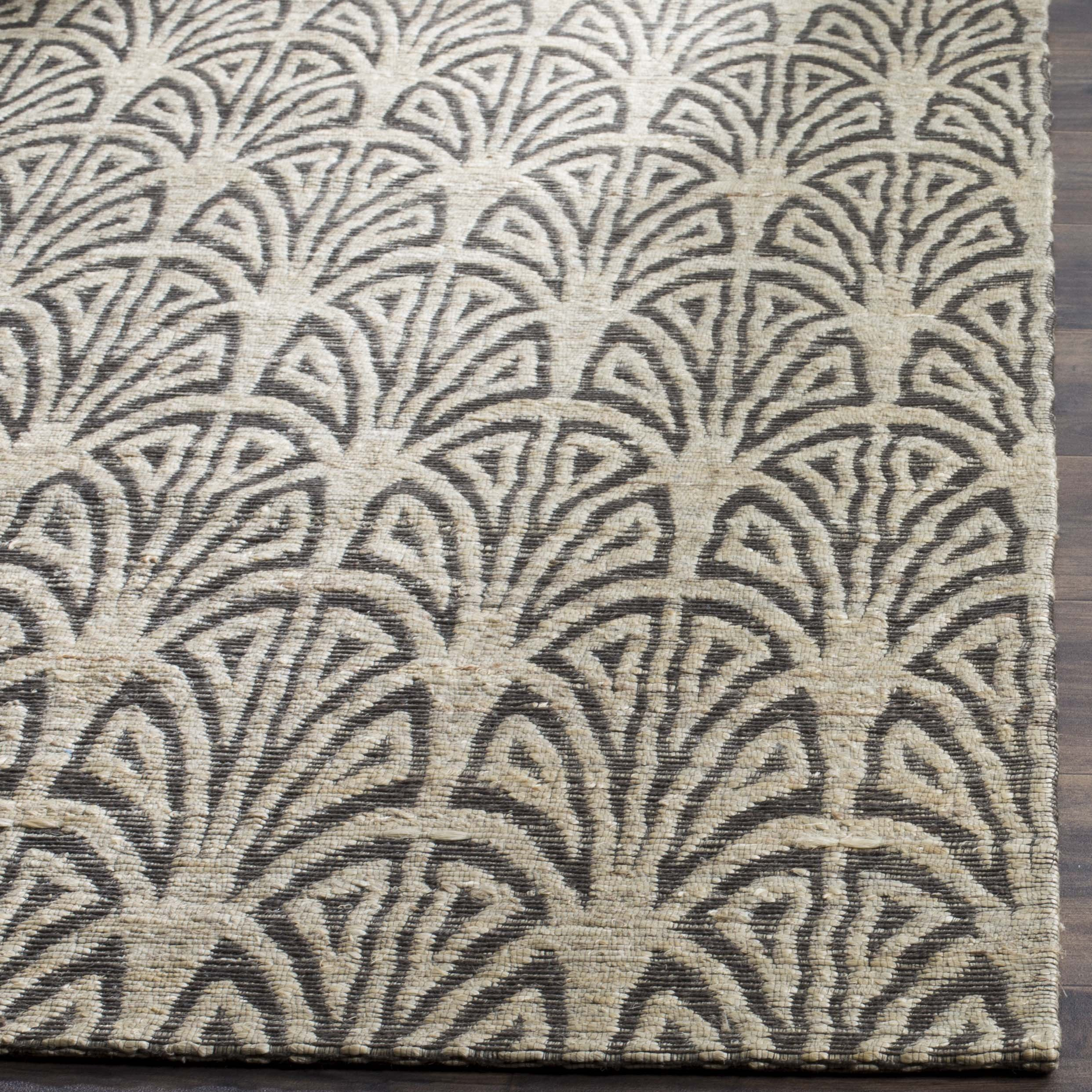 Safavieh CAP501B-5 Cape Cod Collection Flat Weave Handmade Area Rug, 5' x 8', Light Beige/Grey by Safavieh (Image #2)