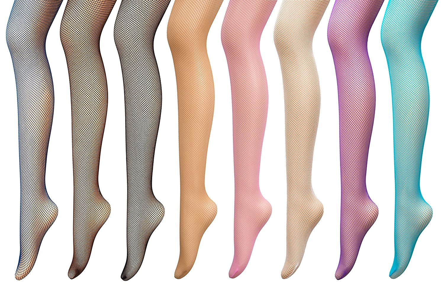 1960s Inspired Fashion: Recreate the Look PreSox Fishnet Tights Seamless Nylon Mesh Stockings Control Top Sheer Pantyhose for Women Girls 8 Color $19.99 AT vintagedancer.com