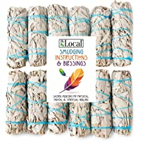 """JL Local White Sage Smudge Sticks 4"""" Inch Smudging Wands 