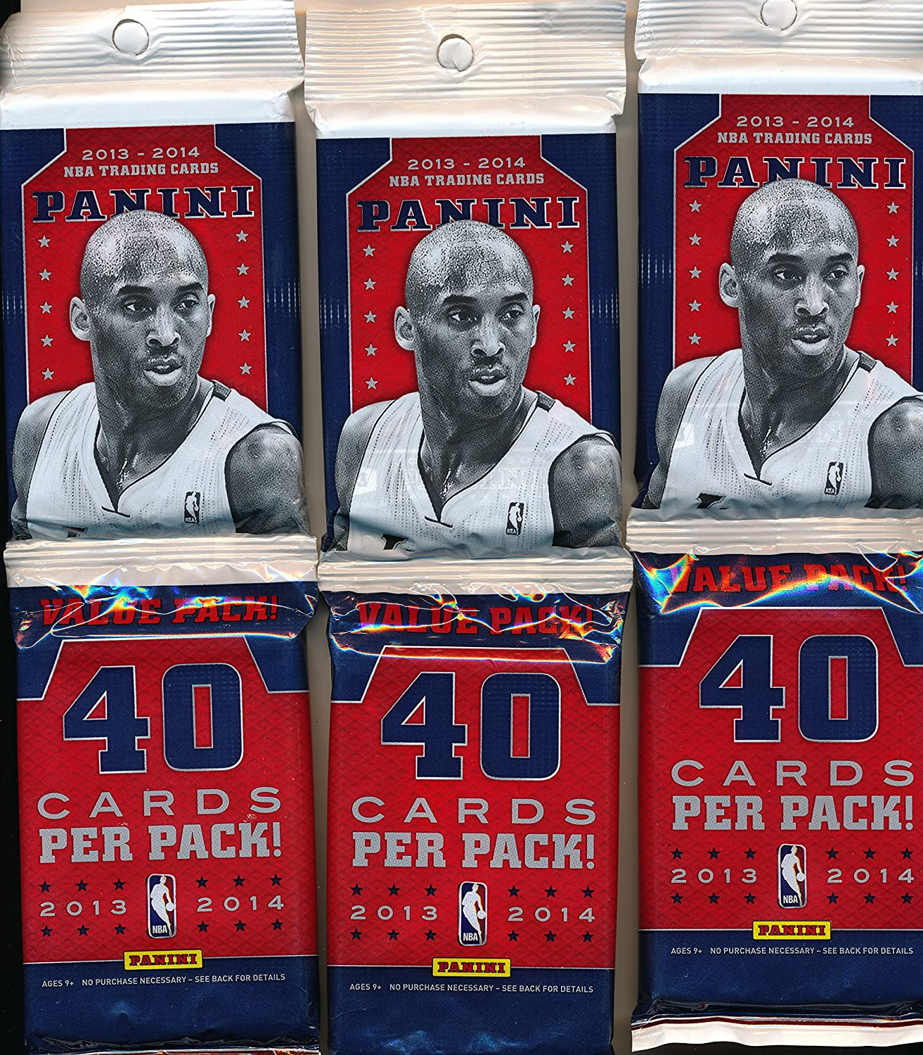 2013-2014 Panini Value Pack lot of 3 packs 40 cards per pack 120 cards total