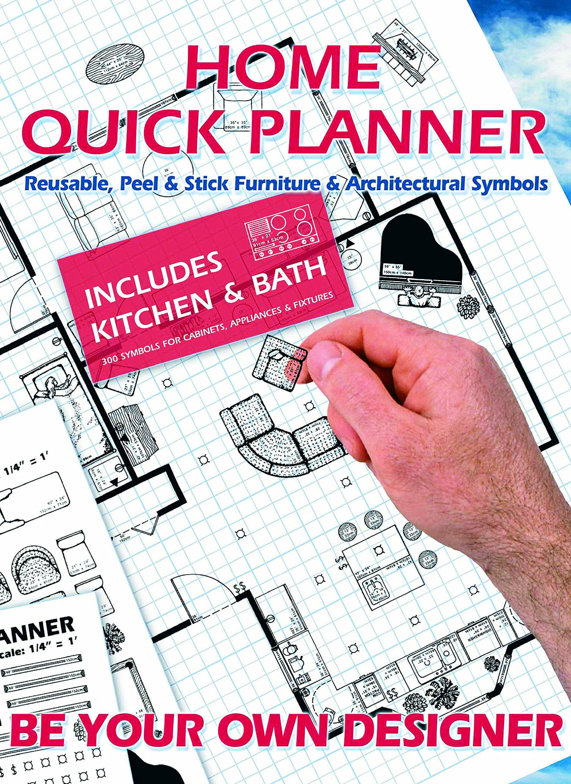 Home Quick Planner: Reusable, Peel & Stick Furniture & Architectural Symbols
