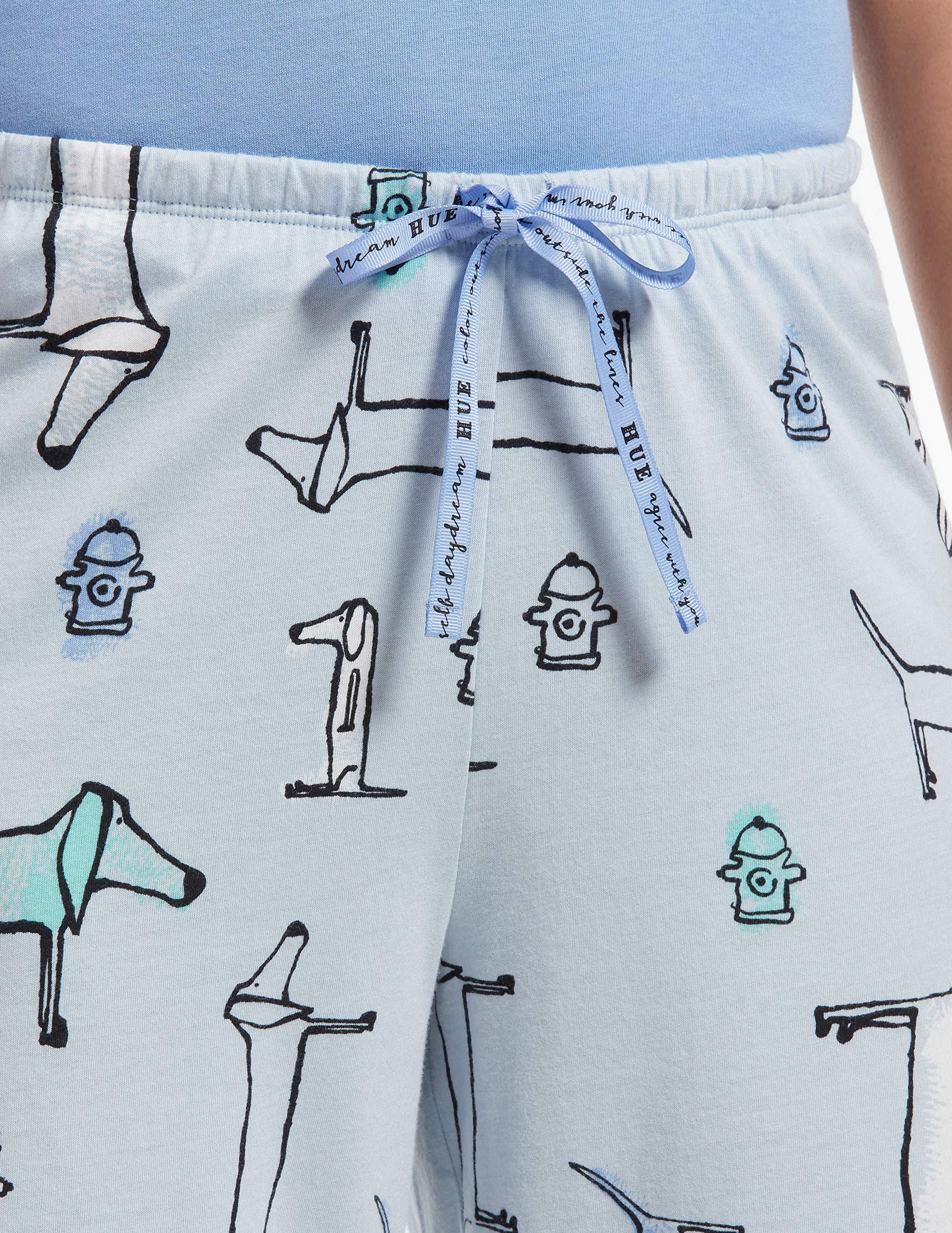 96e0db785 HUE Women's Printed Knit Capri Pajama Sleep Pant, - Choose SZ/color ...